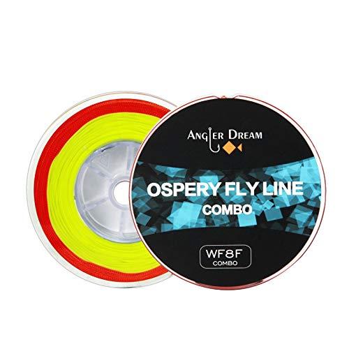 ANGLER DREAM 8 WT Fliegenfischschnur Combo Weight Forward Fliegenfischen Schnur mit geflochtener Rückseite, konische Vorspannung, Fliegenschnur