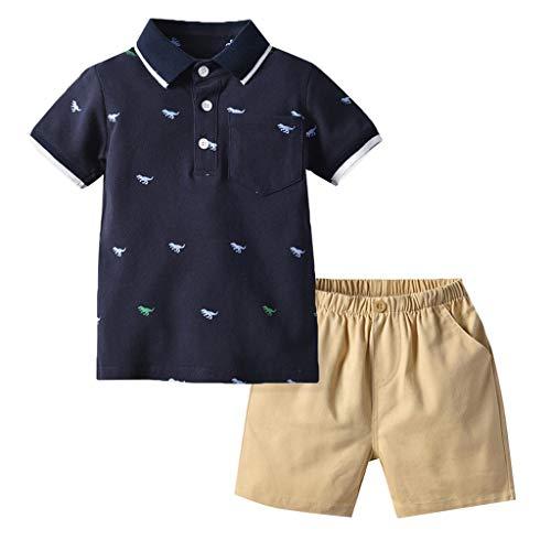 Beikoard Kinderkleidung Drucken Tops T-Shirt Feste Kurze Hose 2 Stück Sets Kleidung Baby Kinder Jungen Casual Outfits Set