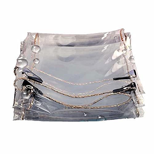 WZNING Tarpas Resistente al Agua Resistente, congelación Anti-UV Plegable de 0,35 mm de Vinilo, Lona Transparente para Cubierta de Patio con Muebles balcón Durable y Protector