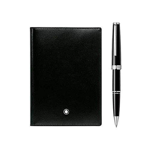 Montblanc Set Rollerball Pix negro y pasaporte 123756...