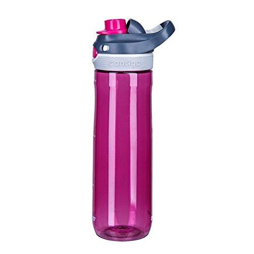 Contigo Autospout Chug Water Bottle, Verry Berry, 24 oz/720 ml