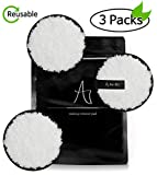 A FOR ALL Reusable Makeup Remover Pads 3 Pcs, Face Exfoliator, Radios 3.7 inch(9.5cm), Face Silk Makeup Remover, Sustainable Makeup Cleanser