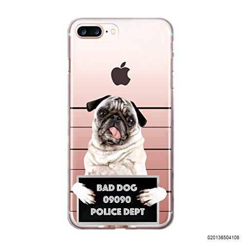 blitzversand Handyhülle Bad Dog kompatibel für LG V10 Dog im Knast Schutz Hülle Hülle Bumper transparent M10