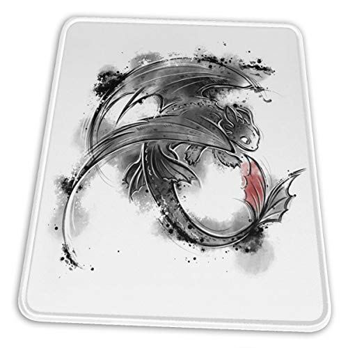 Night Fury Toothless Mouse Pad Anti Slip Gaming Mouse Pad with Stitched Edge Computer PC Mousepad Rubber Base for Office Home
