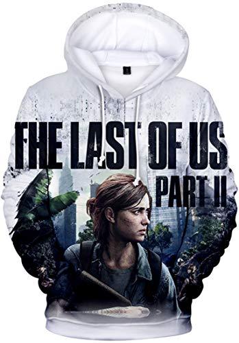 FLYCHEN Jungen Kapuzenpullover mit The Last of Us Muster Druck Fluchtspiel Thema Pullover Spielthema Pullover(Last 21652,2XL)