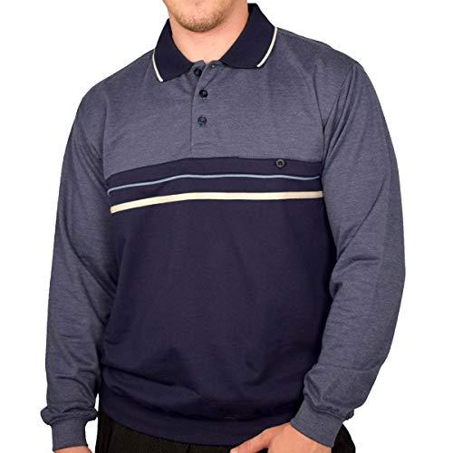 Classics by Palmland Long Sleeve Banded Bottom Shirt 6198-307 Navy (XL, Navy)