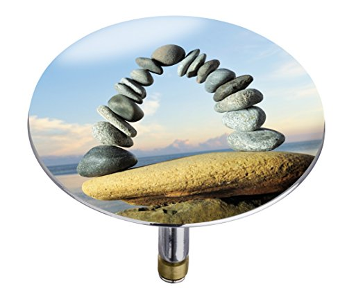 Wenko 21846100 Badewannenstöpsel Pluggy XXL Stone formation, Abfluss-Stopfen, für alle handelsüblichen Abflüsse, Kunststoff, 7,5 x 6 x 7,5 cm, mehrfarbig