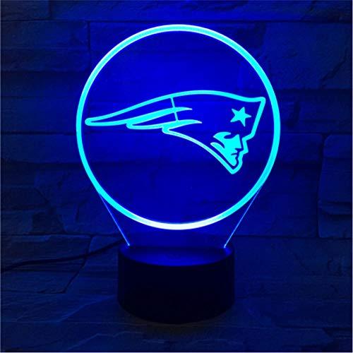 Led 3D Nachtlicht Patriot RGB Touch Sensor Kindergeschenke Neuheit Team Logo American Football Nachtlicht Schlafzimmer