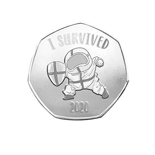 Monete commemorative Collezionando Leyerer I Survived nel 2020 Survivors Bifacciali Memorie del Passato Regalo Speciale Souvenir Personalizzato Moda