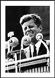 Rahmenbild John F Kennedy - Wandbild mit Rahmen schwarz im