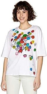 ベネトン レディース(UNITED COLORS OF BENETTON) コットンマルチカラーモチーフ半袖Tシャツ?カットソー