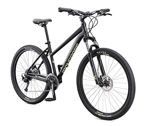 Mongoose Switchback Expert Adult Mountain Bike, 9 Speeds, 27.5-inch Wheels, Womens Aluminum Medium Frame, Black