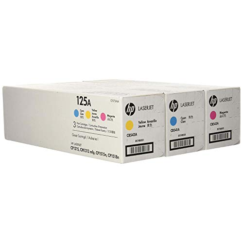 HP 125A 3er Pack CF373AM CyanMagentaGelb Original Toner fur HP Color Laserjet CP1215 CP1515 CM1312