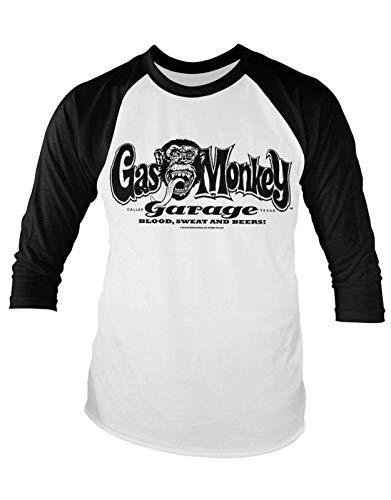 Gas Monkey Garage Camiseta Béisbol Classic GMG Logo Nuevo Oficial De Los Hombres