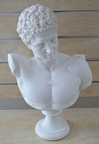 Hermes Escultura antiguo dios griego conductor de almas en la otra vida Grand Busto Estatua
