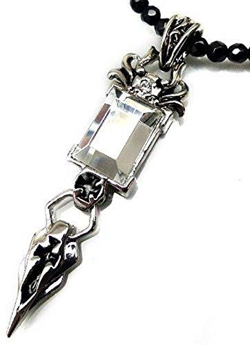 ネックレス メンズ ネックレストップ シルバー ゴールド ペアネックレス ペンダントヘッド チャーム ブラックスピネル n903 swan01