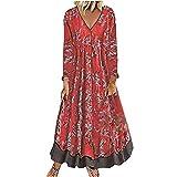 Vestido de mujer de los años 50 años 60 A Line Rockabilly manga Vintage Swing vestido de fiesta de las señoras retro punto vestido de fiesta R120, rosso, L