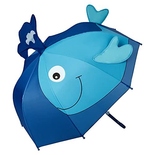 VON LILIENFELD® Ombrello Balena Ragazzi Ragazze Bambini Leggero Stabile Colorato Motivo Fino a 8 anni