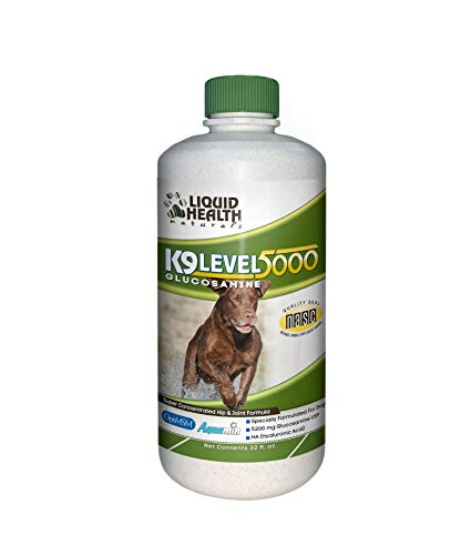 Liquid Health K9 Level 5000 Dog Glucosamine Chondoritin - Concentrated Joint Supplement for Dogs