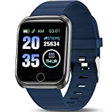 ANCwear Fitness Tracker with Heart Rate Monitor and Blood Pressure,Activity Tracker for Swimming Women Men Kids Compatible with iPhone Android Phones (Blue)