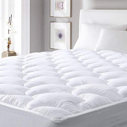 """viewstar Cooling Mattress Pad Queen,Extra Thick Mattress Topper, Pillow Top Mattress Pad Cover with Down Alternative Fill,6-21"""" Deep Pocket for Queen Size Bed Soft and Breathable,Queen"""