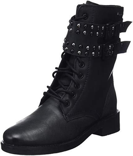 Pepe Jeans London Damen Maddox Army Stiefeletten, Schwarz (Black 999), 39 EU