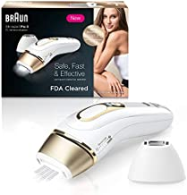 BraunIPL Hair Removal for Women Silk Expert Pro 5 PL5137 with Venus Swirl Razor FDA Cleared Permanent Reduction in Hair Regrowth for Body Face Corded, Gold/White, 1 Count(Packaging May Vary)
