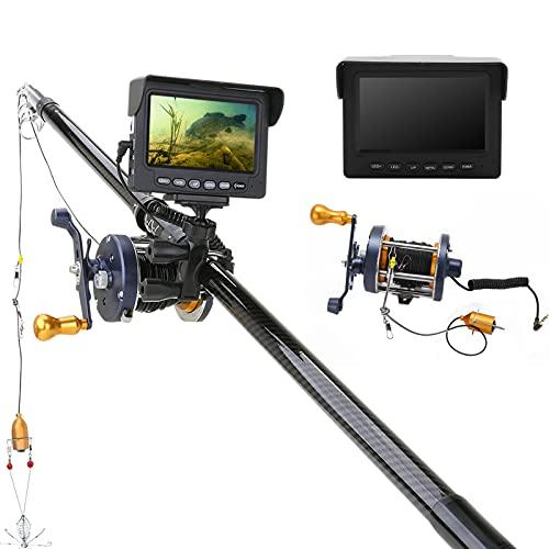 水中魚モニター、水中探査用30M水中アルミニウム合金水中釣りカメラ