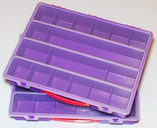 Sortierbox, 2 Stk. Set, Sortierkasten, Organizer Lila