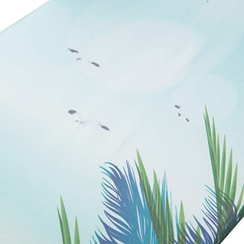 WOLTU BGT08std Bügeltisch Bügelbrett mit Ärmelbrett, Kabelhalter und Wäscheablage Strand 132 x 33,5 cm - 6