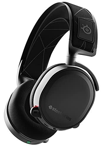 SteelSeries ゲーミングヘッドセット ワイヤレス 無線 密閉型 ロスレス 低遅延 7.1chサラウンド Arctis 7 61505