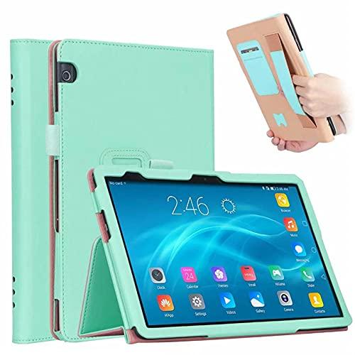 YYLKKB Caso para Huawei MediApad T5 10 AGS2-L09 / W09 / L03 Cubierta DE LA Tabla DE Cuero DE Lujo PU para Capa Huawei MEDIAPAD T5 Flip Caja de Flip 10.1 Pulgada-Verde