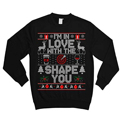 Love with The Shape of You Coffee Target Wine Ugly Sweater Shirt - Noel Merry Xmas Sweatshirt