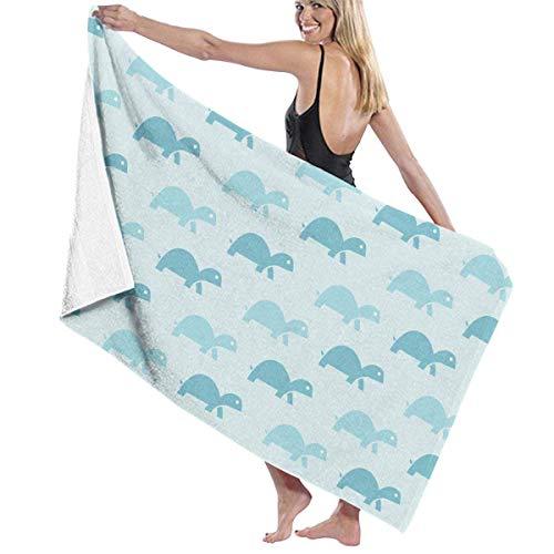 Toallas de Playa para Mujeres Hombres Océano Azul Tortugas Fondo Toallas de baño Secado rápido Viajes Multiusos