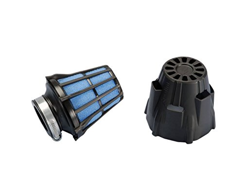 Luftfilter Polini Blue Air Box 46mm gerade schwarz-blau