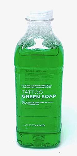 ALOE Green Soap 1L - Grüne Seife - TATTOO abwischen/reinigen - INKgrafiX® Deutschland - PROFI STUDIO IG03546
