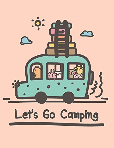 Let's go camping: Let's go camping with animals on pink cover (8.5 x 11) inches 110 pages, Blank Unlined Paper for Sketching, Drawing , Whiting , ... with animals on pink sketchbook) (Volume 3)