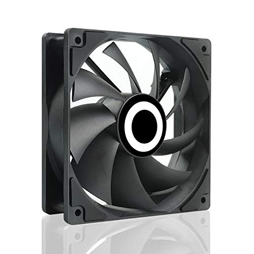 Case Fan, YEEPHTECH PC Cooling Fan Ultra Quiet Silent High Performance for Computer Cases Cooling 120mm, Black, 3 Pin
