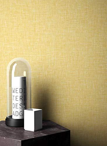 NEWROOM behang grafisch gele lijnen Retro papierbehang papierbehang geometrisch Art Deco incl. behanggids Retro effen
