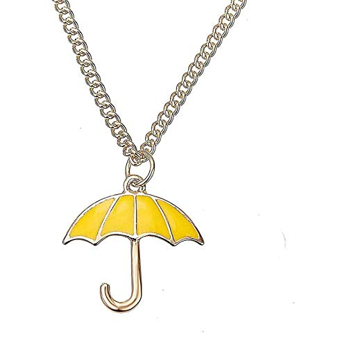 Jpenxv He Visto la Cadena de Cosplay Colgante de Paraguas Amarillo de la Madre