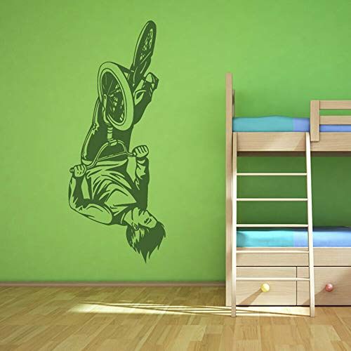 Geiqianjiumai Stunt fiets kamer muur applique vinyl muur sticker in slaapkamer in creatieve sportruimte grote sticker
