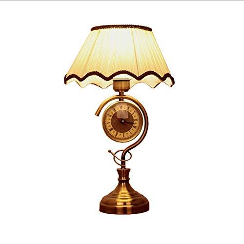 GENGYI Retro Industrielle Loft Schreibtisch Lampe Kreative Lampe Eisen Stoff Lampe Wecker Lampe...