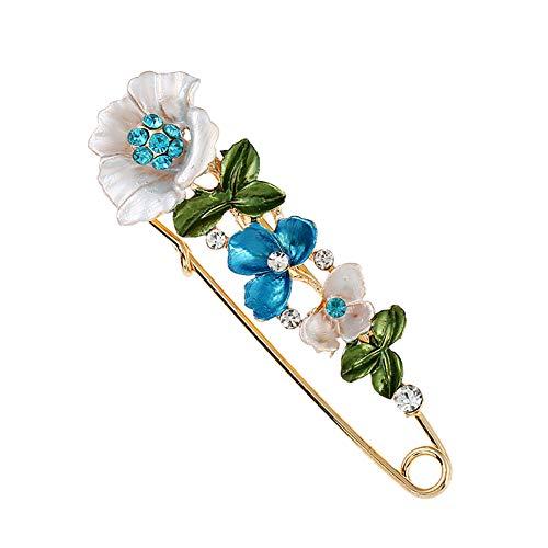 Kentop - Broche de seguridad para mujer, con imperdible 2.5×8.5cm azul