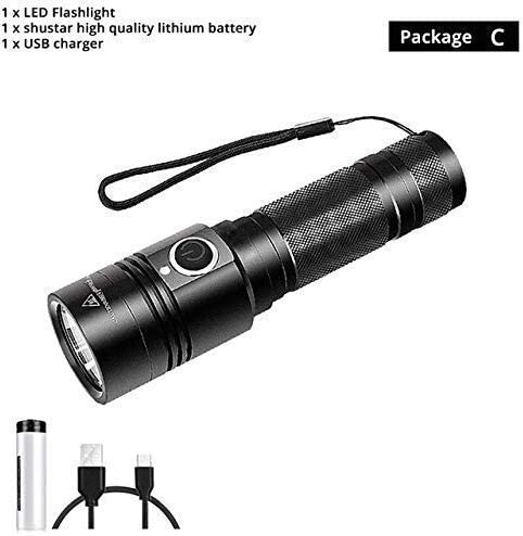 YELLAYBY Max 70% OFF Branded goods Outdoor Travel Accessories USB Flashlight Rechargeable