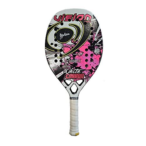 Vision Racchetta Beach Tennis Racket White Carbon 2021
