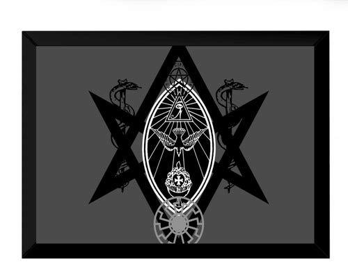 Quadro Artes Poder Simbolos Do Ocultismo Só Para Entendidos