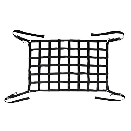 US Cargo Control Short Pickup Truck Bed Cargo Net with Cam Buckles and S-Hooks - Net Size: 66 Inches by 50 Inches with 6 Inch by 6 Inch Holes