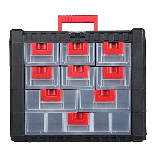 DFKEA Caja de Herramientas del cajón Caja de Almacenamiento del Arte del Hardware Caja de Almacenamiento de los artículos Diversos del hogar con la manija