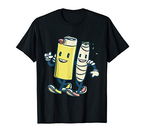 Lighter Joint Friends 420 Smoking Weed Cannabis Marijuana T-Shirt