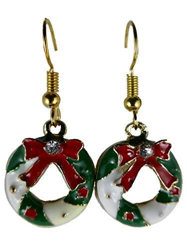 Ohrringe Ohrhänger Hänger Weihnachtskranz Kranz Gesteck Weihnachten Schnee Winter 10.067